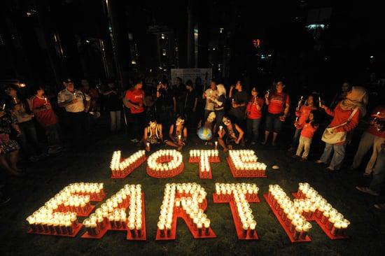 Earth Hour Clocks a Big Success