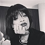 Question: will Rihanna ever stop changing her hair? Answer: no way! She debuted a jet-black bob on Instagram just last month.  Source: Instagram user badgalriri