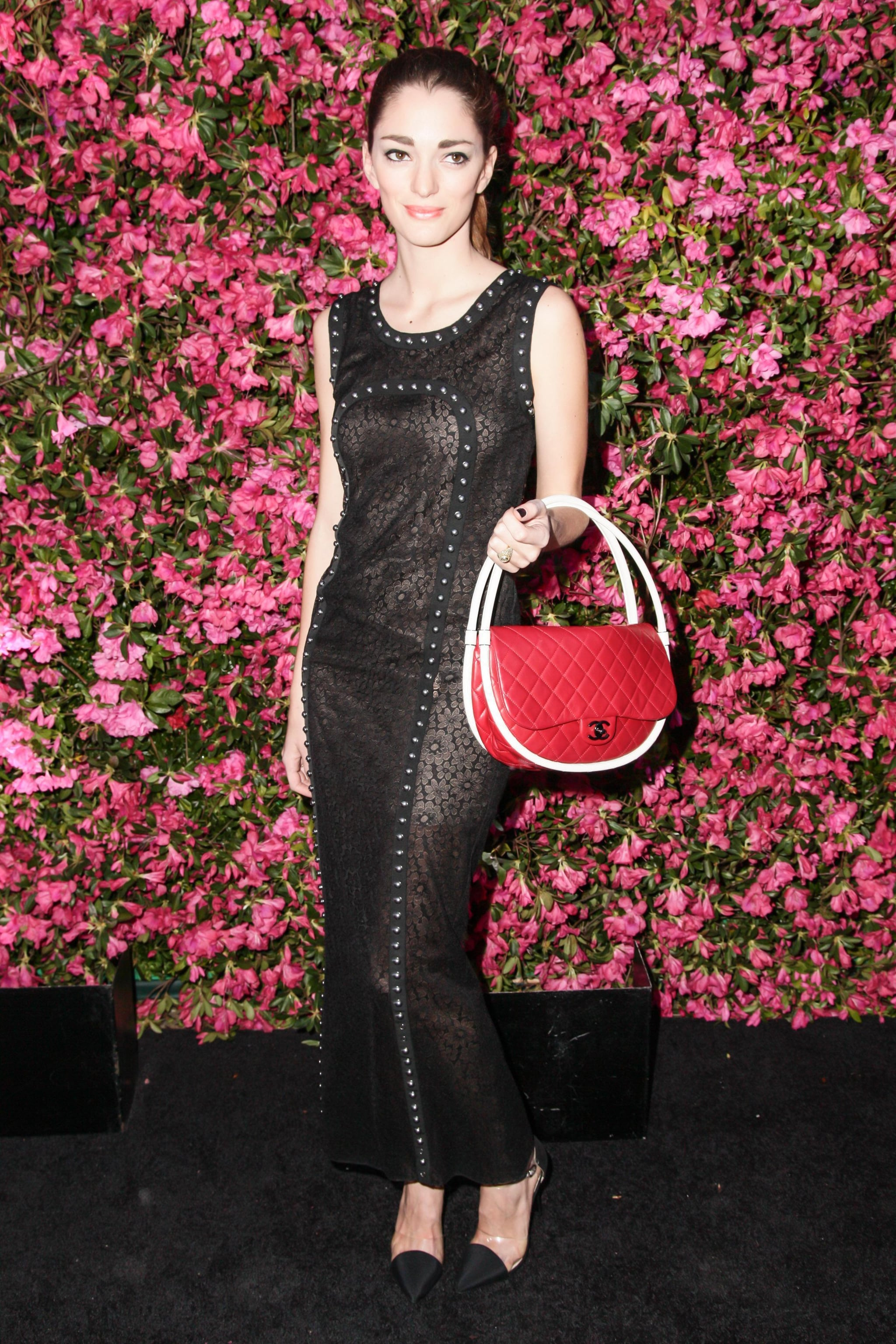Sofia Sanchez Barrenechea wore Pre-Spring 2013 Chanel and carried a Spring 2013 Chanel hula-hoop bag at Chanel's Tribeca Film Festival Artists Dinner in New York. Source: Matteo Prandoni/BFAnyc.com