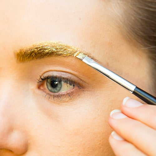 Metallic Eyebrow Makeup DIY