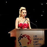 Miley Cyrus at the LGBT Gala Vanguard Awards 2015 | Pictures
