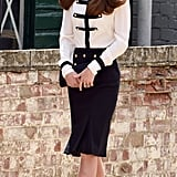 The Duchess Toured Bletchley Park, Where Her Grandmother Was a Codebreaker, Wearing a Chic Alexander McQueen Outfit