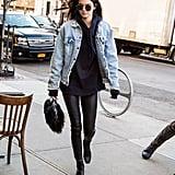 Kendall Jenner Wearing Kanye's Pablo Jacket