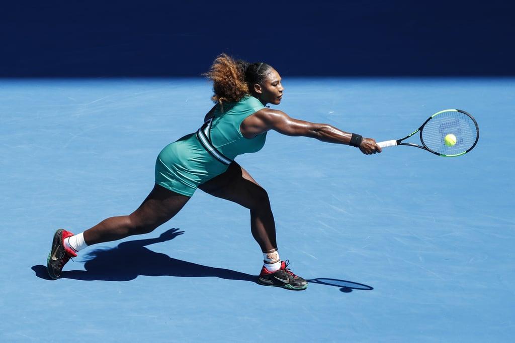Serena Williams Cut Through the Air in This Blue Biketard