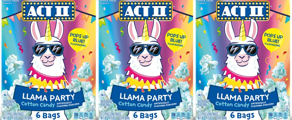 Act II's Llama Cotton Candy Popcorn Turns Blue When Popped!