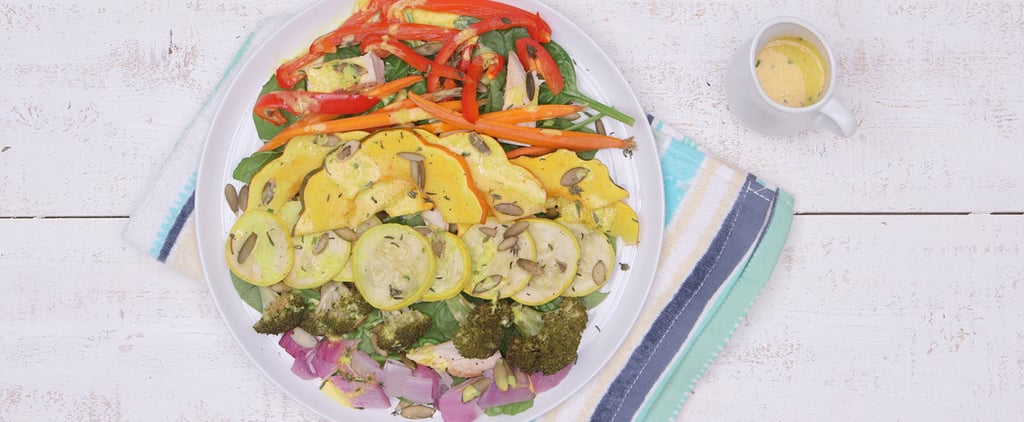 This Fall Flat-Belly Salad Celebrates the Rainbow With Roasted Veggies