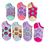 Smiley Face 7-Pack Low Cut Sock