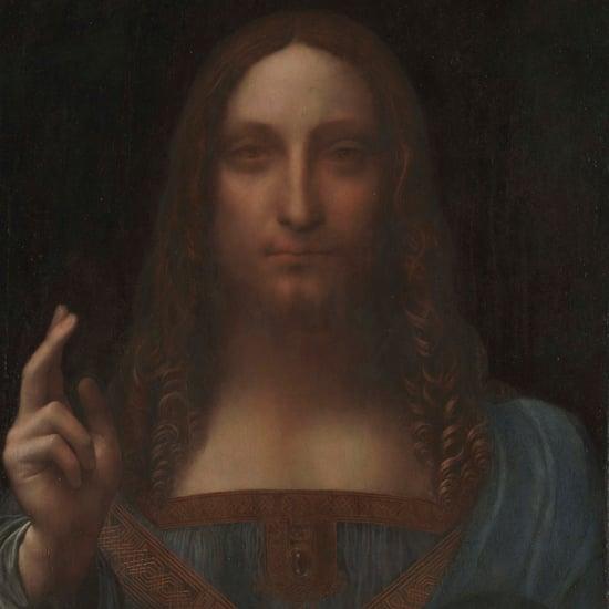 عرض لوحة سالفاتور موندي لليوناردو دا فينشي في اللوفر أبوظبي