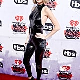 Taylor Swift Wore a Sequined Black Jumpsuit on the Red Carpet