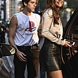 Barbara and Dylan at a Casting For the Victoria's Secret Fashion Show in September 2018