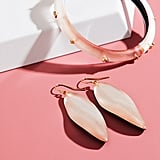 Alexis Bittar Long Leaf Earrings or Golden Studded Hinge Bracelet