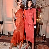 Kendall and Bella Stepped Out For a Party in Matching Red Dresses