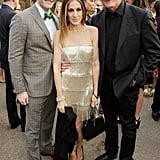 Sarah Jessica Parker, Matthew Morrison, and Victor Garber posed together at the party.