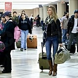 Cameron Diaz Looks Sharp For an Early Flight Out of Town