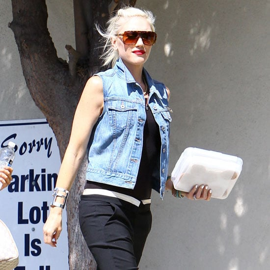 Gwen Stefani Wearing Denim Vest