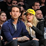 """Ryan Sweeting and Kaley Cuoco attended the game just a couple days after saying, """"I do,"""" on New Year's Eve."""