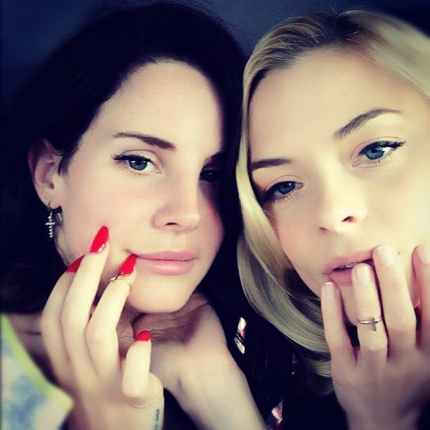Lana Del Rey and Jaime King showed off their nails. Source: Instagram user jaime_king