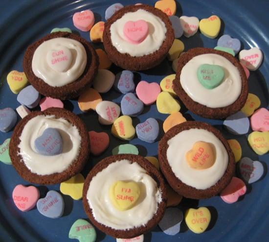 I Heart You Brownie Cupcakes