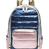 Bari Lynn Puffy Hologram Metallic Backpack