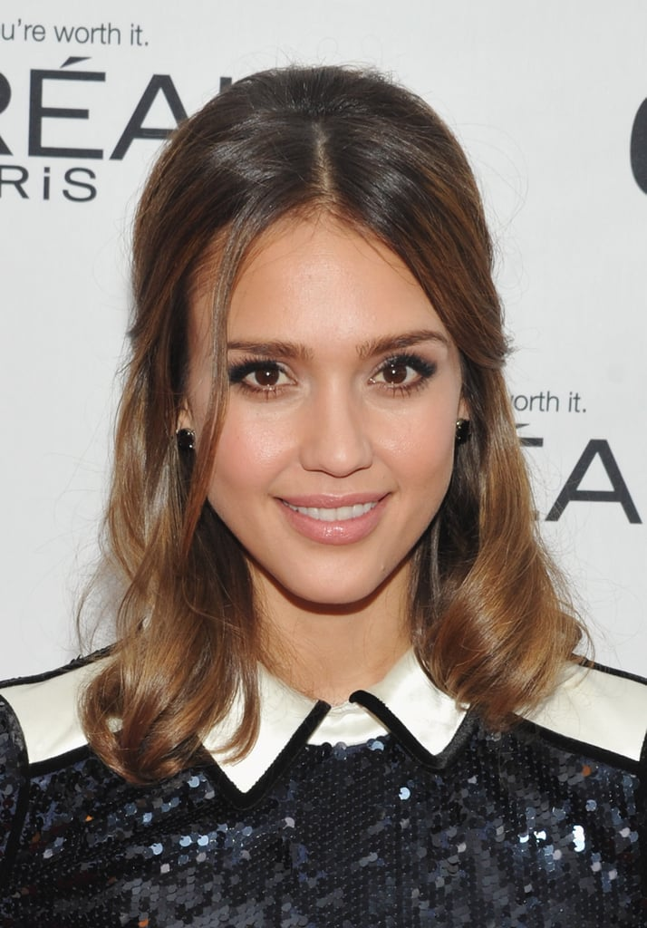 The loose half-up hairstyle at the 2011 Glamour Women of the Year Awards is one that easily translates for a casual event or formal affair.