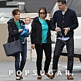 Reese Witherspoon debuted her brown hair during a lunch date with her husband, Jim Toth, and son Tennessee in Nashville.