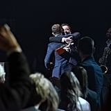 When They Hugged It Out at Justin's Memphis Music Hall of Fame Induction Ceremony