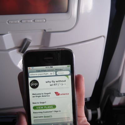 Gogo on the iPhone? Easy peasy.