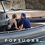 Leonardo DiCaprio and Toni Garrn stayed close on their boat in Ibiza, Spain.