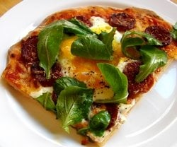 Yummy Link: Alice Waters Egg Topped Pizza