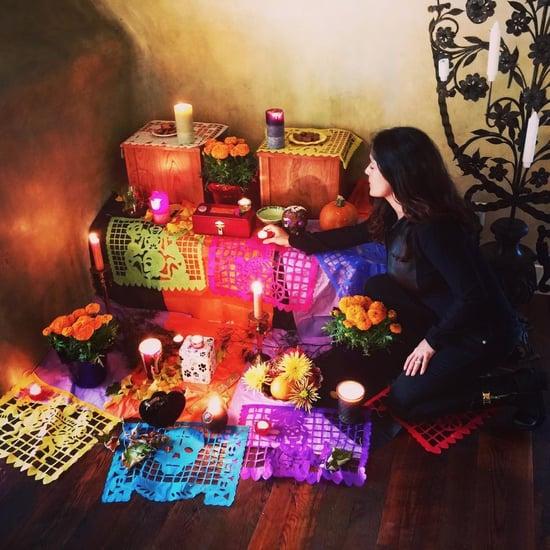 Salma Hayek's Dia de los Muertos Altar For Her Pets