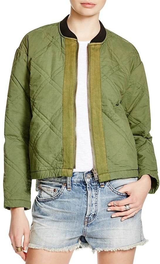 Free People Linear Quilted Bomber Jacket ($148)