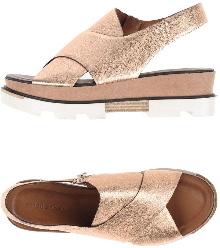 Pedicures were made for these open toe ELVIO ZANON Sandals ($173).