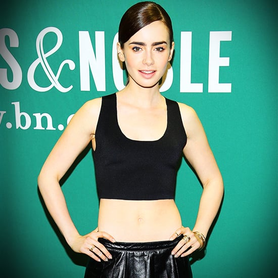 Lily Collins Crop Top Style | Video