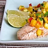 Whole30 Rockfish With Peach Salsa