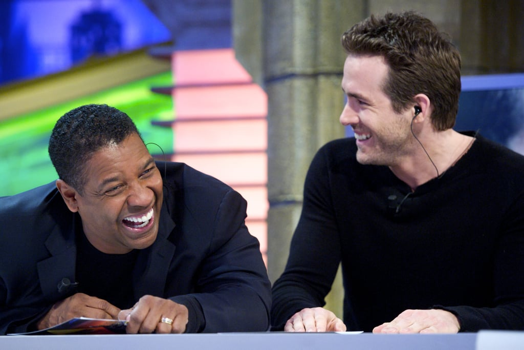 Denzel Washington and Ryan Reynolds continued their Safe House promotional tour yesterday with a stop by Spanish television's El Hormiguero. The variety show has hosted a wide range of A-list celebrities over the years, including Jennifer Aniston and Tom Cruise. The program gets the stars involved in puppet shows, magic tricks and science experiments. For his part, Denzel joined in the fun by attempting a complicated pool shot while Ryan tried to pull off an optical illusion.  The guys are charming their way across Europe and are scheduled to blitz NYC next week with appearances on The Late Show and Live With Kelly. Their stop in the Big Apple might give Ryan a chance to catch up with girlfriend Blake Lively, who is back to work on the set of Gossip Girl. Things seems to be going well for the couple while Ryan and ex Scarlett Johansson listed their LA home for $3.65 million earlier this week. Ryan and Scarlett shared the Los Feliz ranch during their marriage, but both have since moved on to other properties. She's also been spotted holding hands with new boyfriend Nate Naylor on the East Coast.