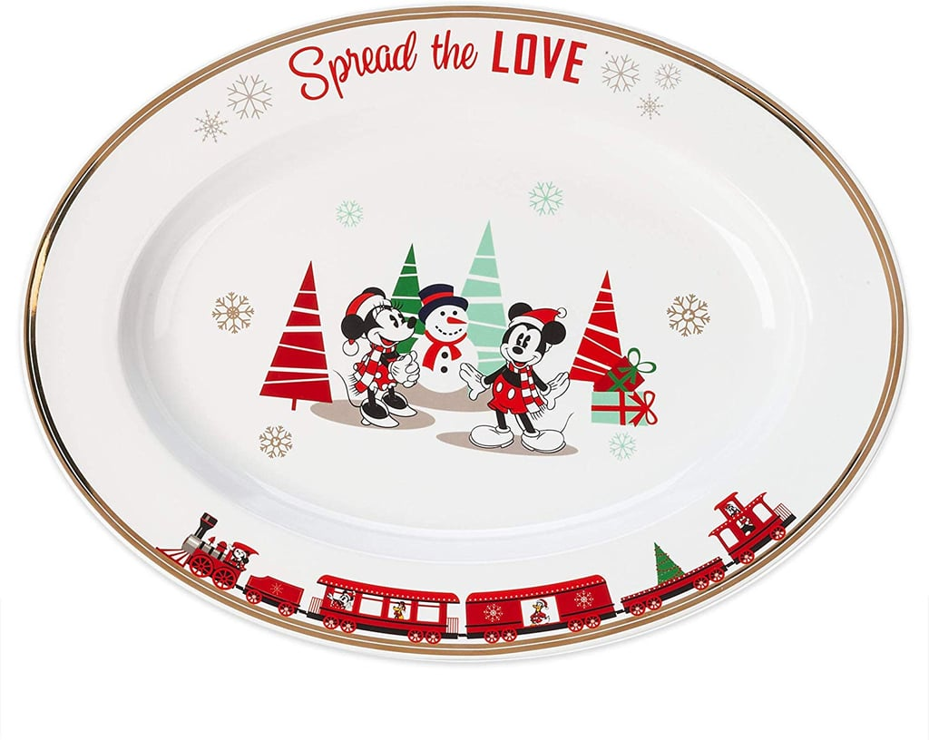 Disney Mickey and Minnie Mouse Holiday Serving Dish