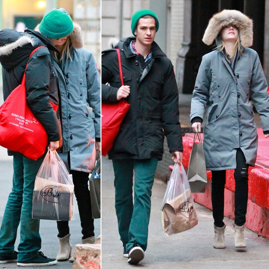Emma Stone and Andrew Garfield Kiss in NYC | Pictures