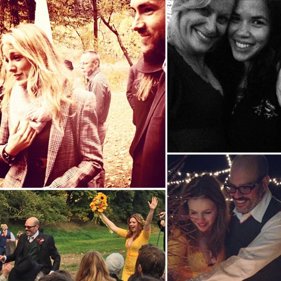 Blake Lively and Ryan Reynolds at Amber Tamblyn's Wedding