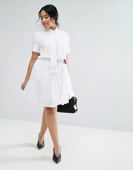 The Unique 21 Hero Short Sleeve Skater Dress ($61) comes complete with a rose-embroidered scarf.