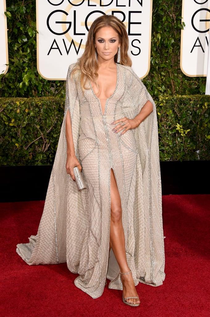 Jennifer Lopez Wearing Zuhair Murad to the 2015 Golden Globe Awards