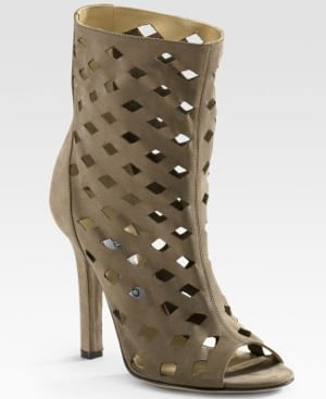 The Look For Less: Jimmy Choo Suede Ankle Boot