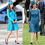 When They Perfectly Matched Their Fascinator to Their Teal Dresses