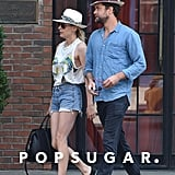 Diane Kruger and Joshua Jackson took a morning stroll in SoHo on Thursday.