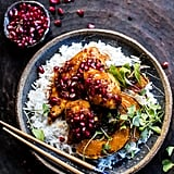 Sheet-Pan Sticky Pomegranate Chicken and Honey-Roasted Squash