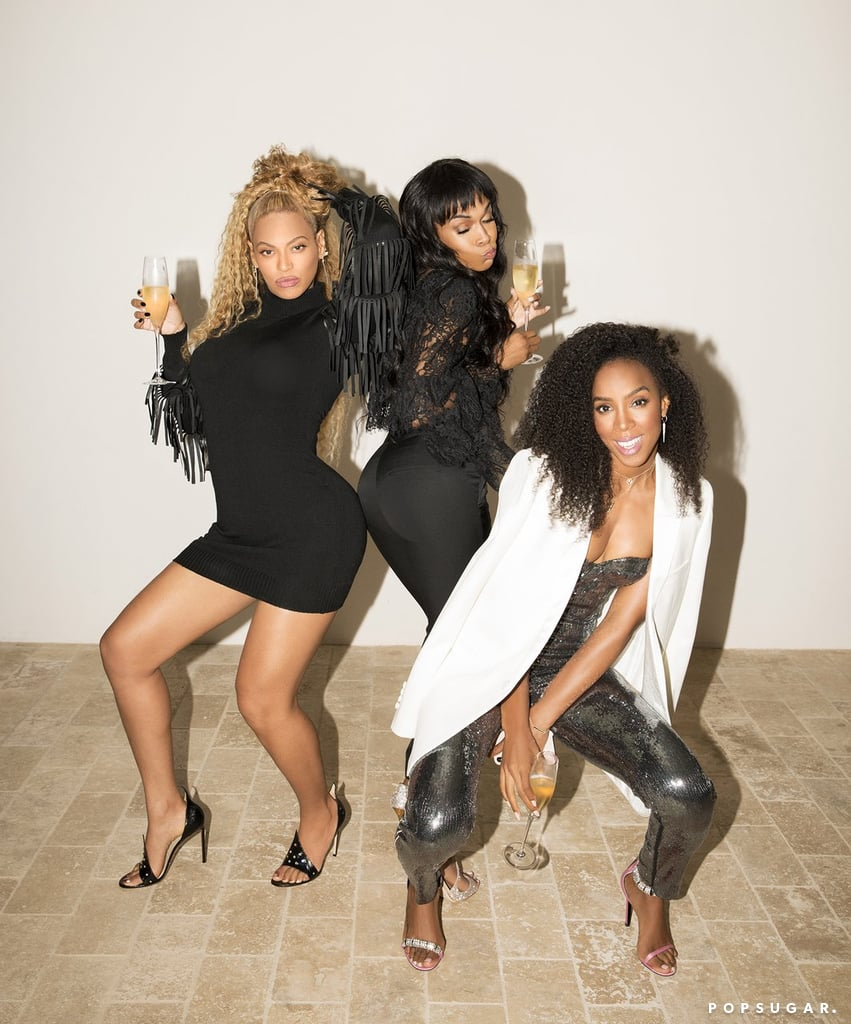 Beyoncé, Kelly Rowland, and Michelle Williams reunited just a few days after shutting down Coachella two weekends in a row. The former Destiny's Child members stepped out for the opening of the Dundas flagship boutique in LA on Tuesday night and couldn't have looked happier. Two days later, Beyoncé shared a series of amazing reunion snaps on her website of the trio popping champagne.  Beyoncé, who made history with her headlining performance in the desert this year, opted for a little black dress and high ponytail, while Kelly chose a sequined jumpsuit that reminded us of an ensemble from the 2006 musical film Dreamgirls — which Beyoncé starred in. Newly engaged Michelle rocked an all-black look, and her sparkling silver shoes were enough to dazzle us, too. Keep reading to see more photos of their latest outing — seriously, what's their age-defying secret? — then find out why Michelle says plans for an official Destiny's Child reunion tour are welcome.      Related:                                                                                                           20 Photos of Beyoncé and Kelly Rowland That Will Make You Break Into Song