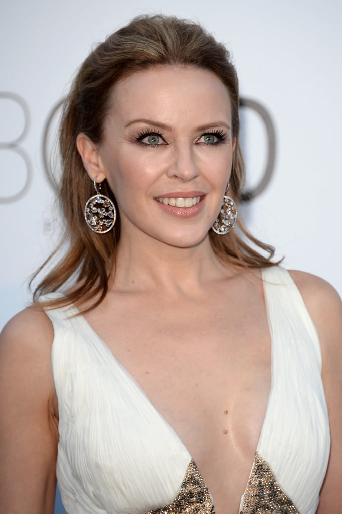 Kylie Minogue's slicked-back style was fancy enough for the amfAR event, but somehow had a laid-back lilt, too.