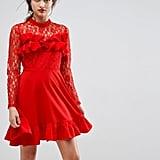 ASOS Lace & Ruffle Mini Dress