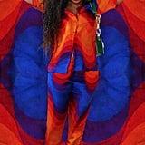 Beyoncé's Wave-Print Set and Geometric Heels