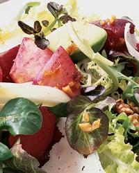 Watermelon and Papaya Salad with Tequila Vinaigrette
