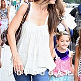 Katie Holmes and Suri Cruise held hands for an NYC outing.